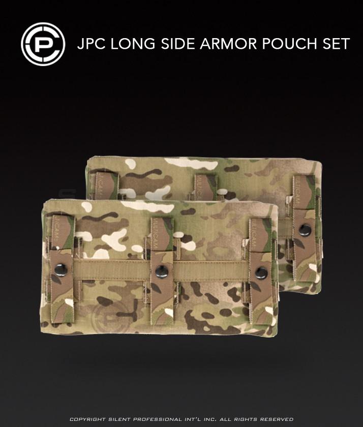 Black Size 1 Crye Precision JPC Long Side Armor Plate Pouch Set